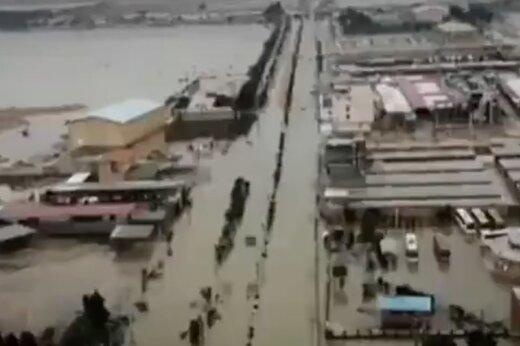 ببینید   تصاویر هوایی از حجم بالای سیلاب و آبگرفتی معابر در شهر چمران ماهشهر