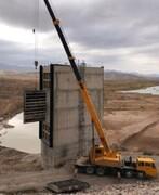 دریچههای سد مخزنی نهب نصب شد
