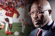ببینید | ژرژ وهآ رئیس جمهور لیبریا به خاطر جوانان در خیابان پا به توپ شد