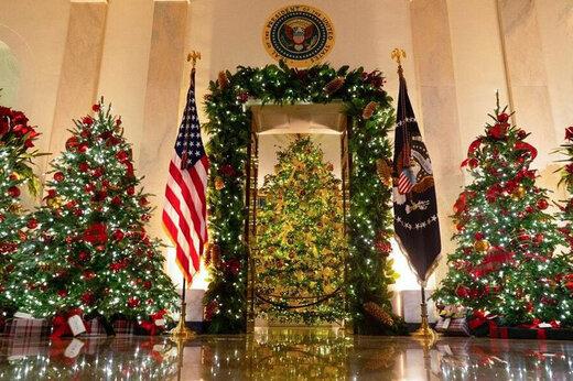 در روزهای مرگبار آمریکاییها؛ دونالد پارتی کریسمس گرفت/عکس