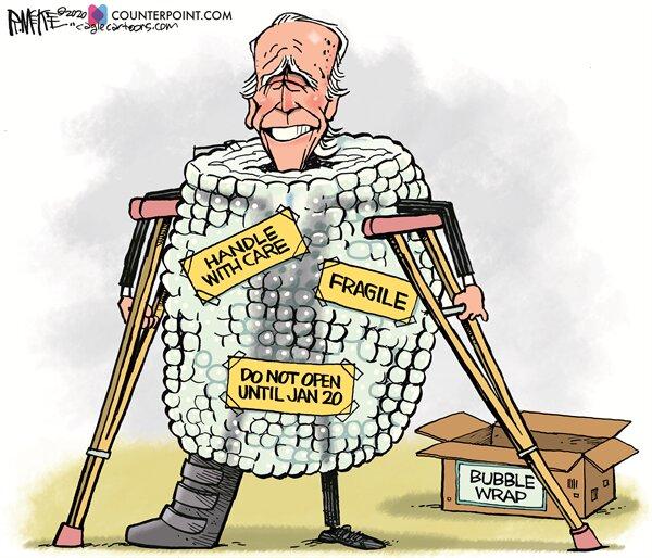 مراقب باشید این رئیس جمهور شکستنی است!