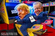 ترامپ و بایدن را در حال موتورسواری ببینید!