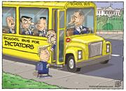 اتوبوس رسید آقای رئیسجمهور، وقت رفتنه!