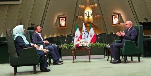 قالیباف به روحانی: هول نشده ایم /می خواهیم با خاطره خوش با دولت خداحافظی کنیم /مصوبه هسته ای مجلس دخالت در کار دولت نیست