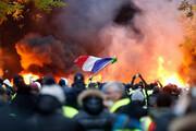 ببینید | اعتراضات در پاریس باز هم به خشونت کشیده شد