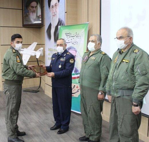 مراسم فارغ التحصیلی دانشجویان خلبانی هواپیمای اف ۴ در همدان برگزار شد