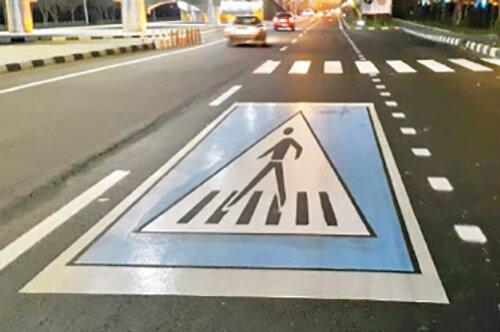 ببینید | طرح مفهومی برای جایگزینی خط کشی عابر پیاده