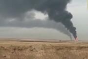 ببینید | انفجار دو چاه نفتی در کرکوکِ عراق