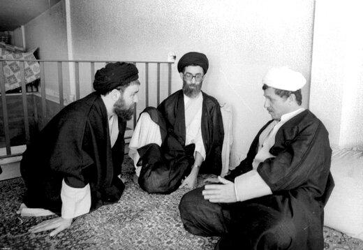 تصویری متفاوت از جلسه سران قوا در حیاط خانه هاشمی رفسنجانی