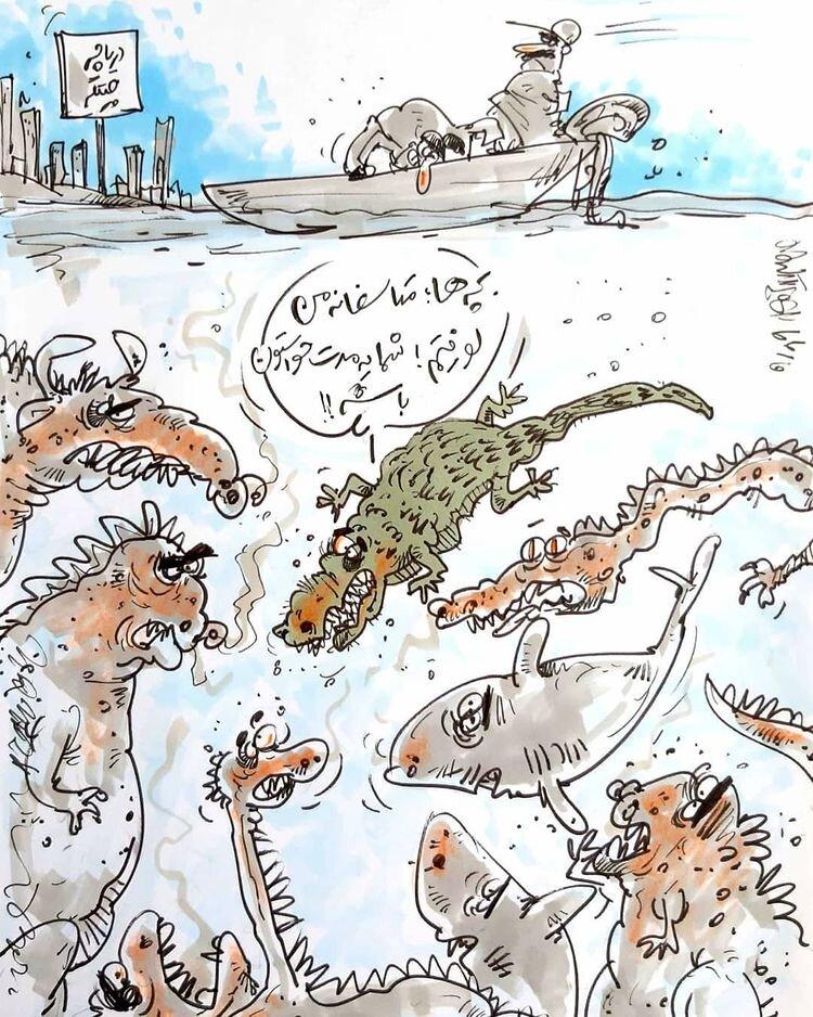 ببینید: تمساح دریاچه چیتگر لو رفت!