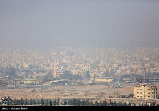 تداوم آلودگی هوای تهران در دمای یک درجه