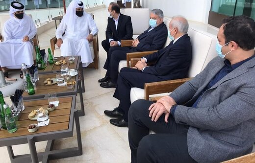 دیدار صالحی امیری با رئیس کمیته ملی المپیک قطر