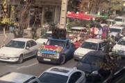 ببینید | دردسر ننه سرما در ترافیک یلدای خیابان لارستان: پراید نیا عقب، زدی!