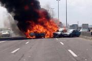 ببینید | تصادف وحشتناک چندین خودرو در اتوبان تهران - قزوین/+۱۶