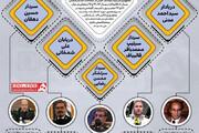 اینفوگرافیک | این ۵ نفر؛ نظامیهای حاضر در مسیر ریاست جمهوری