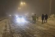 ببینید | بارش سنگین برف در پردیس و بومهن