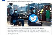 ببینید   کشف گونه جدیدی از کرونا ویروس در نیجریه