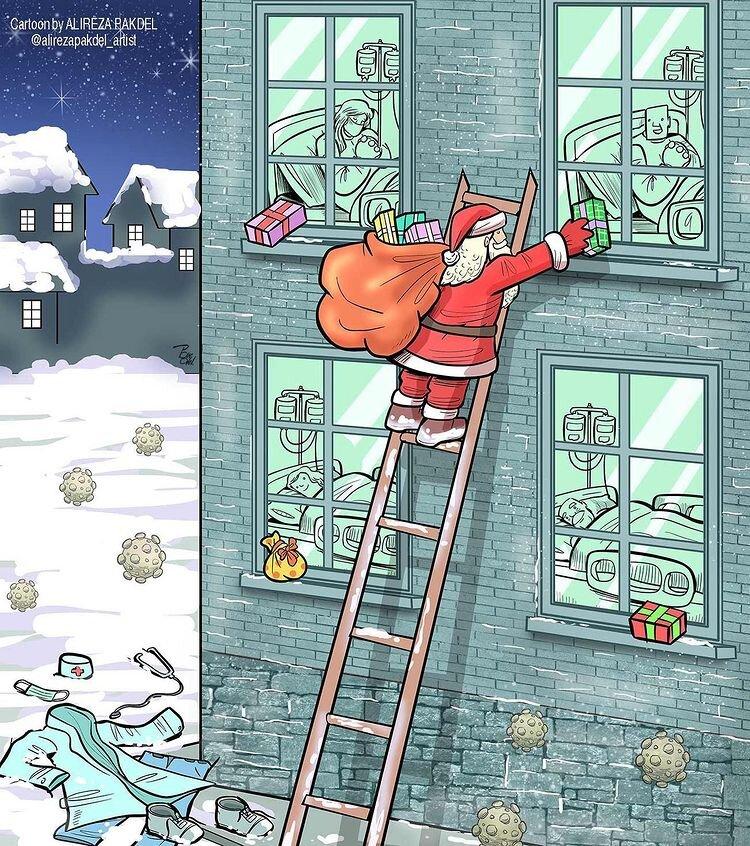 بچهها امشب منتظر بابانوئل باشند!
