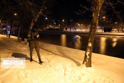 اولین بارش برف فصل زمستان در اردبیل