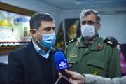 قدردانی استاندار البرز از اقدامات سپاه پاسداران و بسیج استان در  مقابله با کرونا