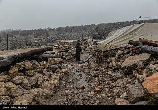 یک روز بارانی در روستای کتک -خوزستان