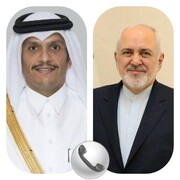 گفتگوی تلفنی وزیران خارجه ایران و قطر