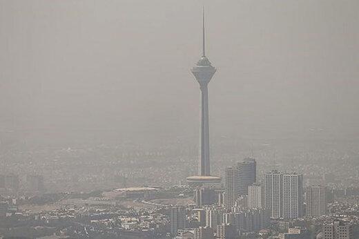 تشدید آلودگی هوا در تهران/ پایتخت در وضعیت قرمز قرار گرفت