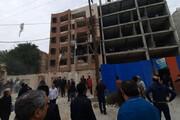 ببینید | حادثه انفجار گاز در اهواز؛ نجات یک دختربچه و انتقال ۱۲ مصدوم