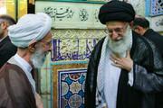 تصاویر | قابهایی از آیتالله مصباح یزدی در کنار رهبر انقلاب