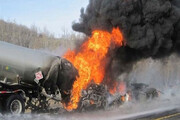 ببینید | تصادف مرگبار تانکر سوخت در برزیل