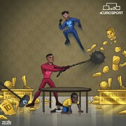 ببینید مسی و رونالدو با اسطوره فوتبال چه کردند!