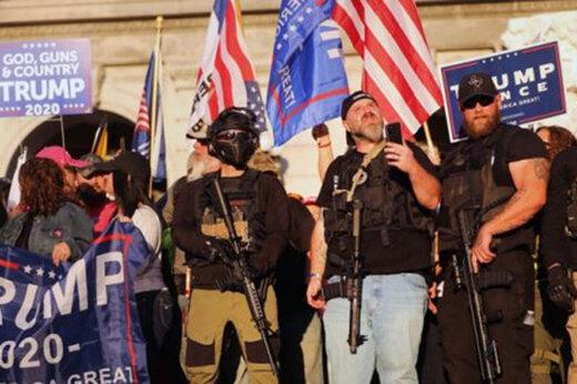ببینید | درگیری بین طرفداران ترامپ و پلیس در واشنگتن