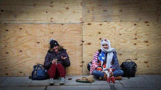 عکسهای همسر ملیپوش اسبق  ایران از اعتراضات دیشب در واشنگتن دی سی