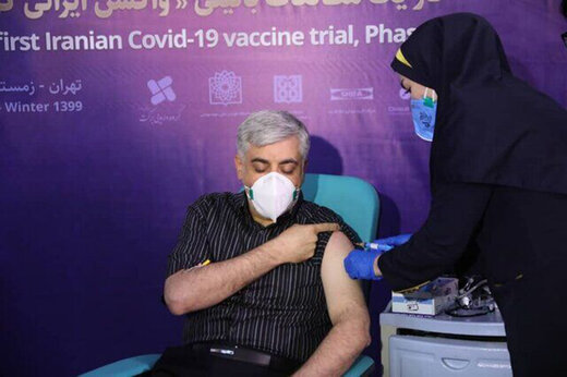 ببینید | تزریق واکسن ایرانی کرونا به ۵۶ داوطلب