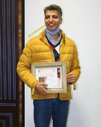 اهدای جایزه سوتا به عادل فردوسی پور