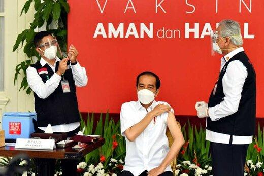 رئیسجمهور اندونزی هم واکسن چینی زد/عکس