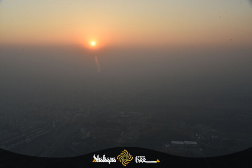 تصاویر هوایی تکاندهنده از آلودگی هوای تهران در عصر دیروز