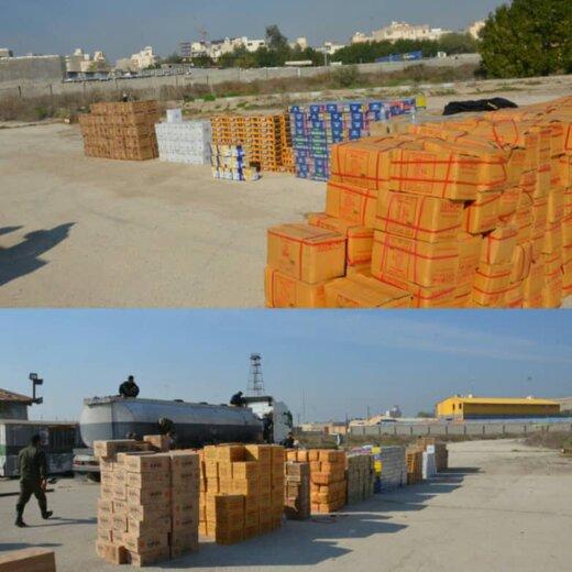 کشف ۱۸ میلیارد ریال کالای قاچاق از درون تانکر کامیون در جاده ماهشهر - آبادان