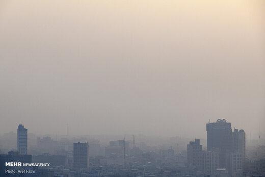 غلظت اُزُن در هوای تهران بالا رفت