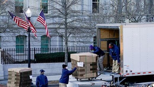آغاز اثاثکشی در کاخ سفید؛ وسایل ترامپ در حال جمع شدن/عکس