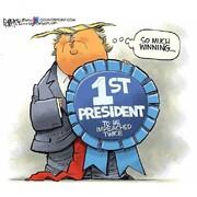 ببینید ترامپ مدال گرفت!