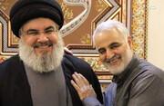 ببینید | آخرین دیدار حاجقاسم با سید حسن نصرالله دو روز پیش از شهادت