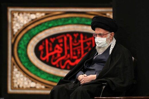 تصاویری از دومین شب عزاداری فاطمیه با حضور رهبر انقلاب در حسینیه امام خمینی (ره)