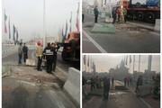 عکس | واژگونی خودرو در تهرانسر
