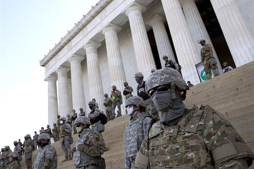 ببینید | تشدید تدابیر امنیتی در واشنگتن در آستانه مراسم تحلیف بایدن