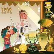 آرزوهای مسی و رونالدو در سال جدید را ببینید!