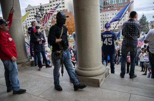 ببینید   رژه طرفداران ترامپ در واشینگتن با اسلحه