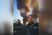 ببینید | آتشسوزی گسترده در خیابان شوش تهران