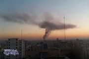عکس | نمایی متفاوت از آتشسوزی امروز در شوش