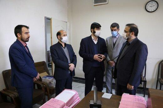 بازدید رئیس کل دادگستری استان البرز از حوزه قضایی ساوجبلاغ